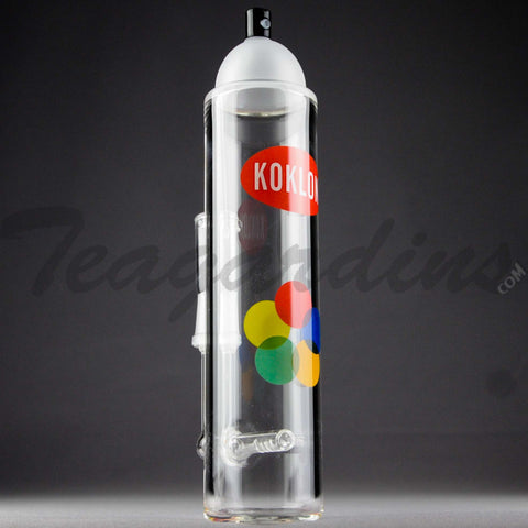 "Teagardins Glass - Krylon Style Spray Can -  Inline Percolator Diffuser Stemless Dab Rig - Multi Color - 4mm Thickness / 9"" Height"