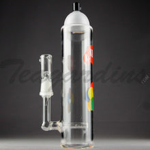 "Load image into Gallery viewer, Teagardins Glass - Krylon Style Spray Can -  Inline Percolator Diffuser Stemless Dab Rig - Multi Color - 4mm Thickness / 9"" Height"