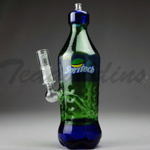 "Load image into Gallery viewer, Teagardins Glass - Spritech (Sprite Style) - Diffuser Downstem Dab Rig - Green - 5mm Thickness / 9"" Height"