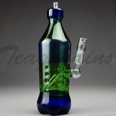 "Teagardins Glass - Spritech (Sprite Style) - Diffuser Downstem Oil Rig - Green - 5mm Thickness / 9"" Height"