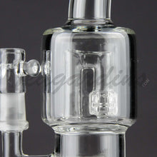 "Load image into Gallery viewer, Teagardins Glass - D.I. Bubbler - Double Matrix & Mini Matrix Percolator Diffuser Stemless Dab Rig - Black - 5mm Thickness / 9"" Height"