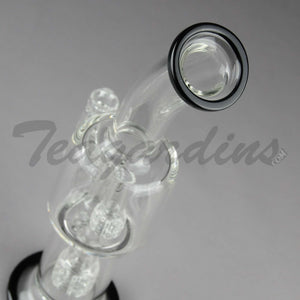 Teagardins Glass - Stemless D.I. Bubbler Matrix to Mini Matrix Percolator Black