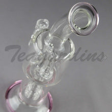 Load image into Gallery viewer, Stemless D.I. Bubbler With Matrix to Mini Matrix Percolator and Pink Foot and Mouthpiece