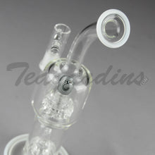 "Load image into Gallery viewer, Teagardins Glass - D.I. Bubbler - Mini Matrix to UFO Percolator Stemless Dab Rig - White - 5mm Thickness / 9"" Height"