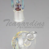 "Teagardins Glass - Three Feet Bubbler - Showerhead Diffuser Dab Rig - Blue Yellow - 5mm Thickness / 7"" Height"