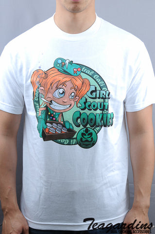 Top Shelf Apparel - Girl Scout Cookies T-Shirt funny novelty cannabis marijuana clothing and tshirts