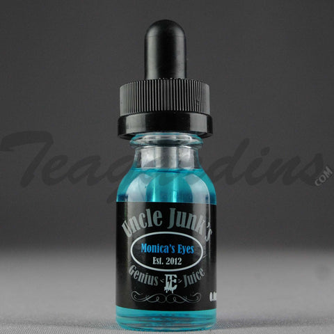 Uncle Junk's E-Juice 15ml. Monica's Eyes (Cantaloupe, Kiwi and Other Delicious Fruits)