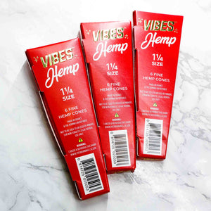 Vibes - Rolling Paper Pre Roll Cones Hemp 1.25 Size