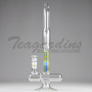 ZOB Glass - Inline Double Chamber Beaker Bottom / Straight Foot Water Pipe - 5mm Thickness / 16