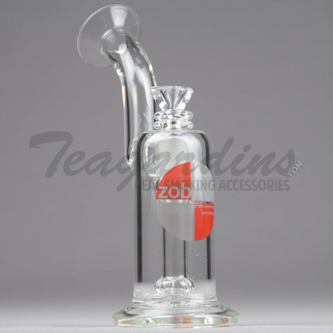 "ZOB Glass - Princess Bubbler Straight Dab Rig - Red Decal - 5mm Thickness / 8"" HeightZOB Glass - Princess Bubbler - Fixed Showerhead Downstem Dab Rig - Red Decal - 5mm Thickness / 8"" Height"