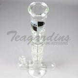 ZOB Glass Triple Chamber Inline Water Pipe
