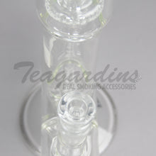 "Load image into Gallery viewer, ZOB Glass - Triple Chamber - Double Showerhead Percolator & Inline Diffuser Straight Water Pipe - 5mm Thickness / 23"" Height"