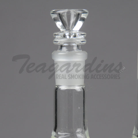 "ZOB Glass - Triple Chamber - Double Showerhead Percolator & Inline Diffuser Straight Water Pipe - 5mm Thickness / 23"" Height"