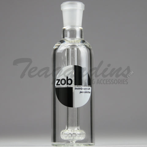 "ZOB - Showerhead Percolator Ash Catcher / Precooler - Black / White - 45 Degree Arm / 6.5"" Height"