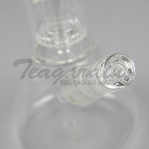 "ZOB Glass - Triple Chamber Double UFO Percolator Dome Percolator Beaker Water Pipe - Rasta Decal - 5mm Thickness / 21"" Height"
