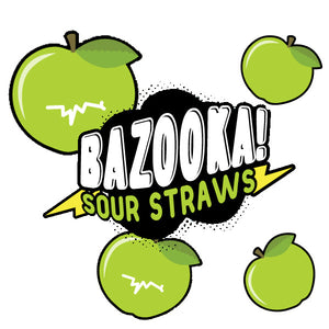 Bazooka E-Liquid - Sour Straws - Green Apple