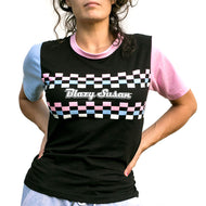 Blazy Susan - T-shirt Unisex Black Checkered For Sale