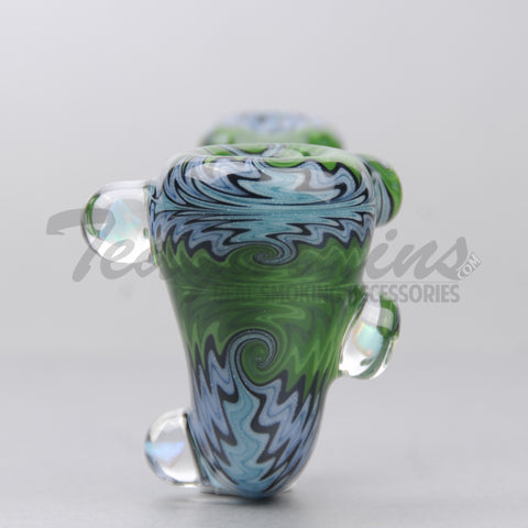 Cowboy Glass - Fully Worked Sherlock Handpipe