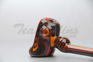 Cowboy Glass Fully Worked Hammer Hand Pipe Reversal Art Sick pipes