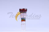 Cowboy Glass on Glass Worked Reversal 18 mm Bowl Smoking sick pipes
