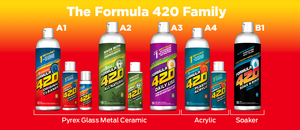 Formula 420 - Water Bong Glass Pipe Cleaning Solution - A2 - All Natural - 16oz For Sale