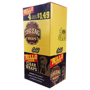 Zig Zag - Blunt Wraps Rillo Size Gold For Sale