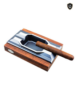 Vector - Ashtray Aluminum Wood Base