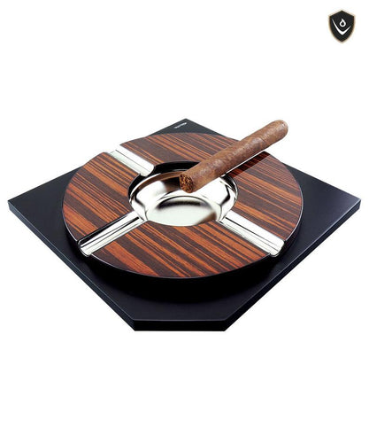 Vector - Ashtray Stainless Steel Wood Base