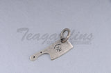 Nulli Secundus 925 Sterling Silver Goth Jewelry Hand Made Cleaver Pendant