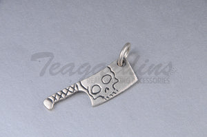 Pork Chop 925 Sterling Silver Goth Jewelry Hand Made for Chefs