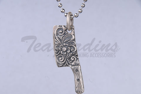 Pork Chop Jewelry Single Sided Floral Carved Pendant