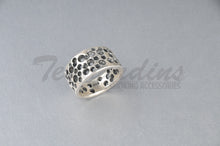 Load image into Gallery viewer, Pork Chop 925 Sterling Silver Goth Jewelry Hand Made Cheese Ring