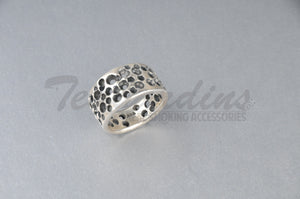 Pork Chop 925 Sterling Silver Goth Jewelry Hand Made Cheese Ring