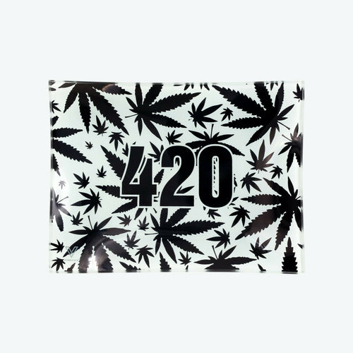 V-Syndicate - Glass Rolling Tray 420 B&W
