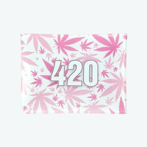 V-Syndicate - Glass Rolling Tray 420 Pink