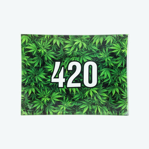 V-Syndicate - Glass Rolling Tray 420 Green