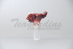 Salt Glass on Glass 14mm Bowl Smoking