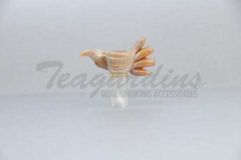 Salt Glass - Custom Worked Beaker 14 mm Bowl