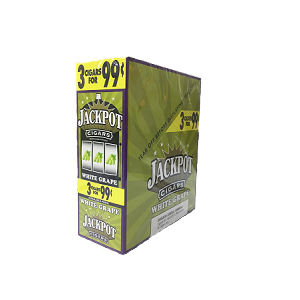 Jackpot Cigars - Blunt Wrap Cigar Cigarillos White Grape For Sale