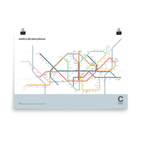 Centroute Edition - Barcelona Metro Map
