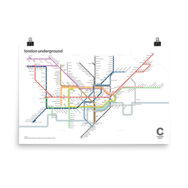 Centroute Edition - London Underground Map