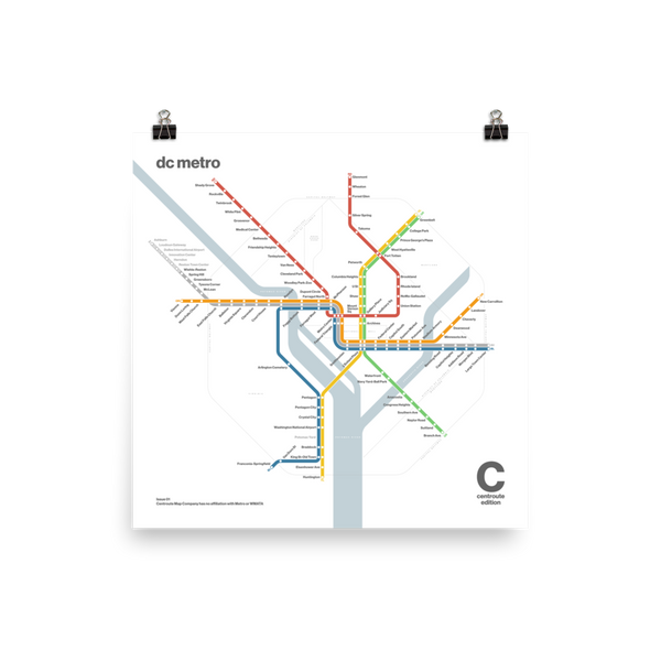 Centroute Edition - DC Metro Map