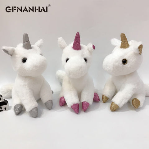Very beautiful kawaii unicorns with a sparkling horn.