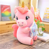 Magnificent unicorn stuffed toy in pink or white