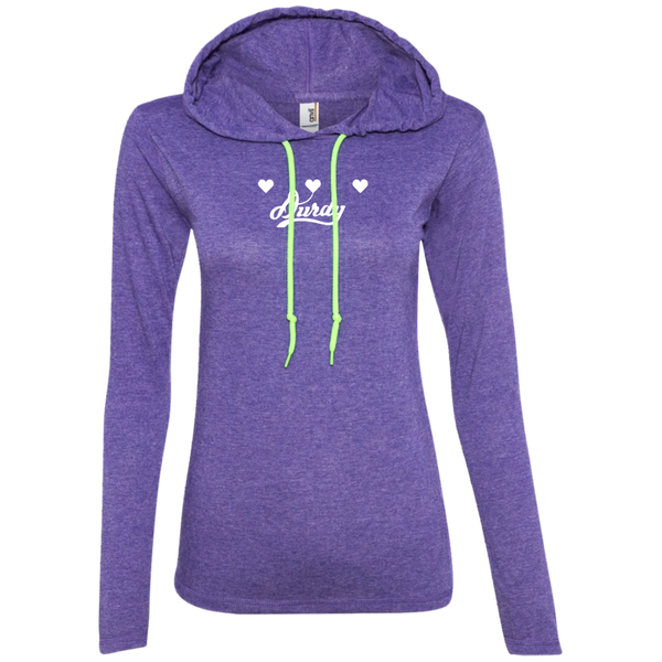Triple Heart Durdy Anvil Ladies' LS T-Shirt Hoodie
