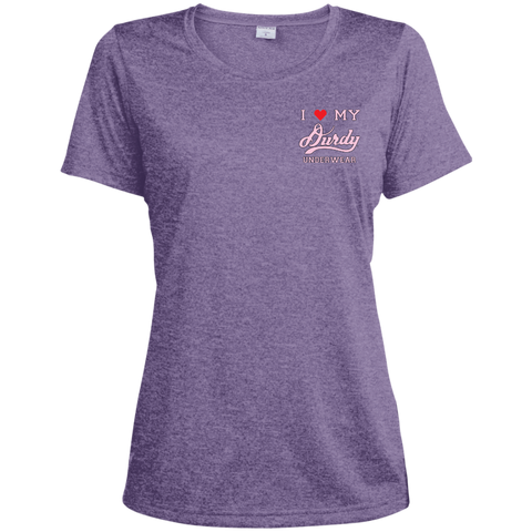 Durdy Underwear Sport-Tek Ladies' Heather Dri-Fit Moisture-Wicking T-Shirt