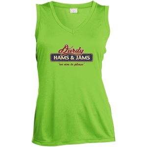 Durdy Hams & Jams Sport-Tek Ladies' Sleeveless Moisture Absorbing V-Neck