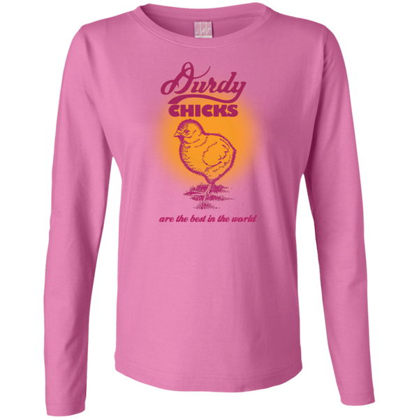 Durdy Chicks LAT Ladies' LS Cotton T-Shirt