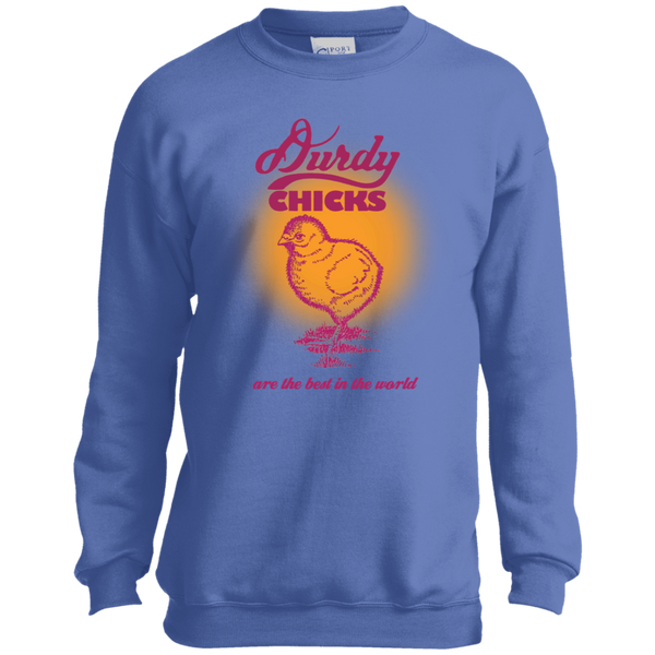 Durdy Chicks Port and Co. Youth Crewneck Sweatshirt