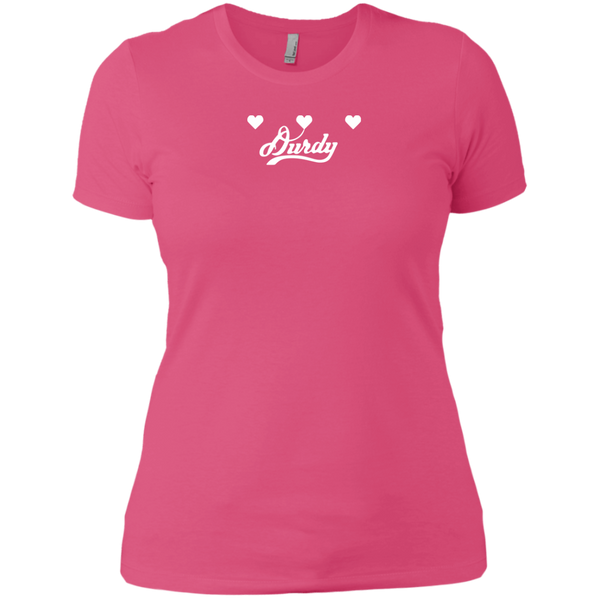 Triple Heart Durdy Next Level Ladies' Boyfriend T-Shirt